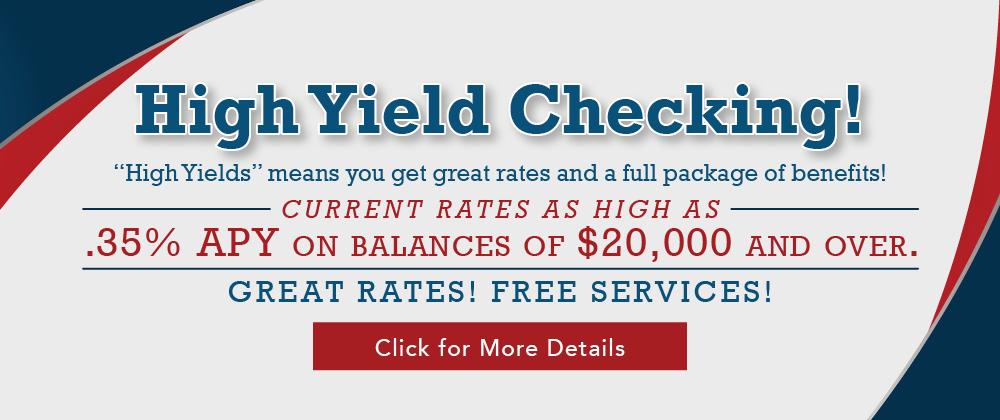 High Yield Checking Web Banner