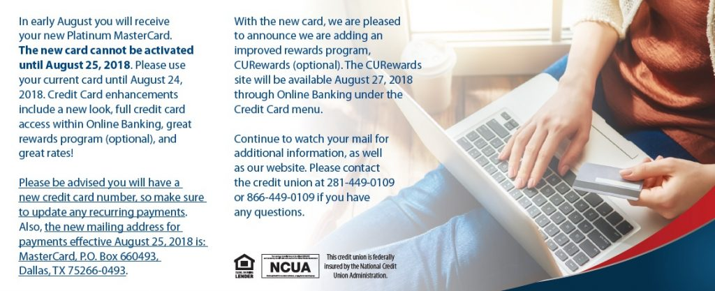 Credit Card Changes Insert Back