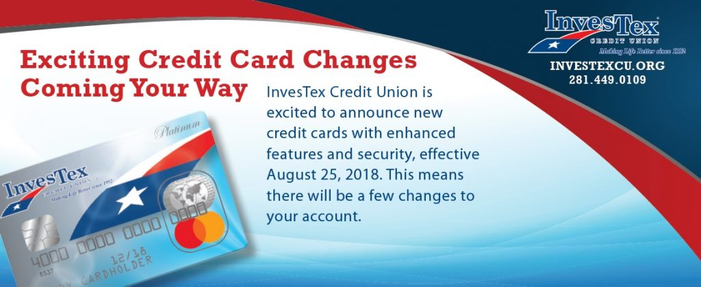 Credit Card Changes Insert Front