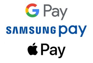 Apple, Samsung, Google Pay Logos