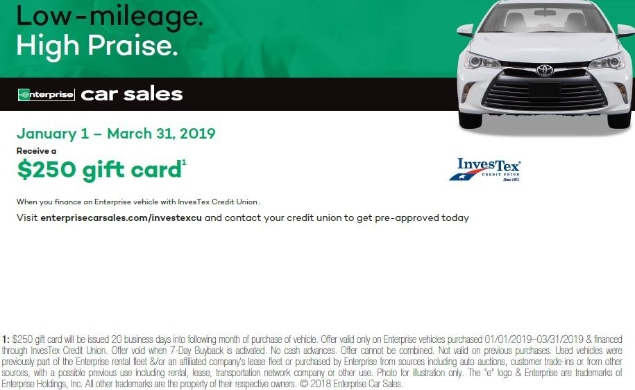 Enterprise Car Sales :: InvesTex Credit Union